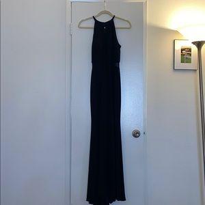 Black XSCAPE formal maxi dress.